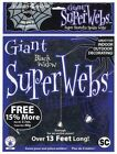 Rubies Large Black Spider Web with Spiders