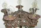 Early 1900's Soda Fountain Bronze Very Ornate 5 Light Lamp