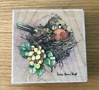 Wood Mounted Rubber Stamp Robin by Carolyn Shores Wright