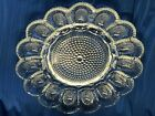 Vintage Hobnail Clear Deviled Egg Relish Plate by Indiana Glass, Holds 15 eggs
