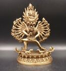 180mm Collectible Handmade Carving Statue Thousand-hand Buddha God Copper Brass