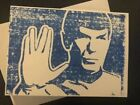 Spock Greeting Card Blank Inside Handmade