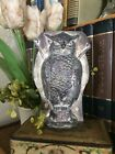 Primitive Antique Tin Style Owl Silver Resin Chocolate Mold Rustic Halloween