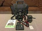Canon EOS Rebel XS 1000D 101MP Digital SLR Camera 2 Lens Kit and Extras