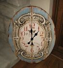 BiG Face Wall BLUE CLOCK*Primitive/French Country/Colonial Farmhouse/Decor*NEW!