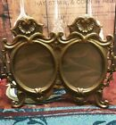 Vintage Gilt Metal or Brass Double Photo Picture Frame