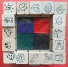 Spring Stamp Squares by All Night Media Rubber Stamp 29130 Set of 16