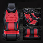 Universal Pu Leather Car Sit Covers Car Accessories Front Rear Cushion 5-seat Us