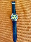 """Swatch Irony Chronograph Watch """"Secret Agent"""" Yellow with Stainless Steel Band"""