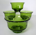 4 MCM Avocado Green Footed Bowls 5 1/4