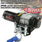 Classic 3500lbs 12V Electric Recovery Winch Truck SUV Durable Remote Control US