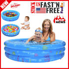 Inflatable Kiddie Pool Ball Pool Family Kids Water Play Fun In Summer 39in