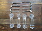 4 Vintage Clear Glass Drawer Cabinet Door Handles Cupboard Pulls 7 sets Avail.
