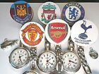 Nurse Watch Football Team Clip on Brooch Watch Silver Charms Soccer Ball Boot