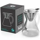 Pour Over Coffee Makers Brewer Unlock Flavor Paperless Filter Carafe 14floz