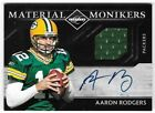 AARON RODGERS 2011 PANINI LIMITED MONIKERS AUTO AUTOGRAPH JERSEY CARD #19 20!