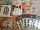Halloween Scrapbook Crafts Stickers Lot Epoxy Brads Stamps Letter Stickers