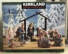 Kirkland Signature 14 Piece Porcelain Nativity Set With Wood Creche 75177