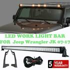 For Jeep Wrangler JK 07 17 52 700W CREE LED Work Light Bar Combo +Mount Bracket