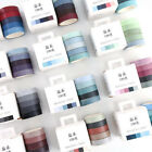 5pcs Solid Washi Tape Masking Sticker Paper Decoration Crafts Adhesive Scrapbook