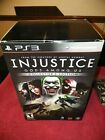 Injustice Gods Among Us PS3 Collectors Edition Statue Comic Book