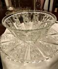 Exceptional, Vintage, extra large, pressed glass, punch bowl/platter/ladle