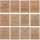 Womens Animal Owl Elephant Clavicle Paper Card Necklace Pendant Gold Chain Gifts