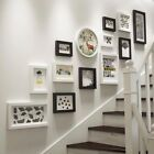 13PCS Photo Frame Set Picture collage Wall Mounted Stairway Black White brown