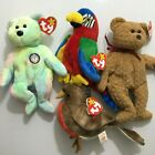 4 Lot Ty Beanie Baby  B.B. bear Curly Early Jabber Exclusive Lot With Tags