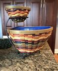 Longaberger 2008 Fiesta Triangle Baskets & Wrought Iron Chip & Dip Set