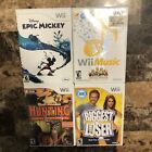 Nintendo Wii Lot of 4 Video Games Hunting Biggest Loser Wii Music Epic Mickey