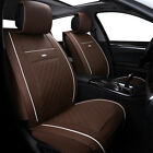 5-seats 3d Car Seat Cover Pu Leather Front Rear Cushion Full Set Pad Mat Auto