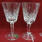 WATERFORD crystal LISMORE pattern Two (2) Water Glasses or Goblets - 6-7/8