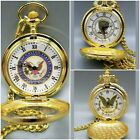 Gold Tone Pocket Watch W/Chain & Clip Lot of 16 Eagle - Presidential - Civil War