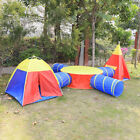 Portable Kids Play Tent Crawl Tunnel 7 in 1 Ball Pit Play House Indoor Outdoor