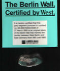 AUTHENTIC ORIGINAL1990 BERLIN WALL A 7 GRAM PIECE CERTIFIED BY WEST STAMP MARK