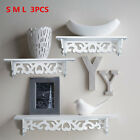 3 Floating Shelves Storage Wall Mounted Wood Bedroom Bathroom Office Home Decor