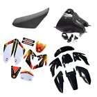 Plastic Kit +Gas Tank+ Graphic Sticker+ Seat for CRF70 Pit Dirt Bike 140 250cc