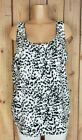 FADED GLORY Womens Size XL 16 18 Sleeveless Shirt Animal Print Polyester Top