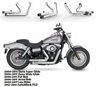 Slip On Pipes Muffler Exhaust 2 Fit for Harley Dyna 2006 2017 Low Rider FXDL