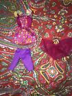 Lot Of 3 Barbie Doll Clothing Pieces Top Capris  Ballerina Skirt Tutu