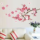Pretty Peach Blossom Flower Butterfly Tree Wall Stickers Home Decal Selling