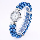 Fashion Casual Womens Watch Pearl String Band Analog Quartz Wrist Watch Cheap