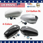 4-Colors Fuel Gas Tank 2.4Gallon 9L Motorcycle Fits Honda CG125 Racer Universal