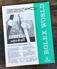 ROLEX World Brochure Vintage 1979 Very Collectible Advert of Tudor Submariner
