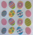 Glittered Pastel Easter Eggs Scrapbook Stickers