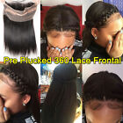 Pre Plucked 360 Full Lace Frontal 13*4Ear to Ear Closure Virgin Human Hair AM187