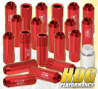 FOR SUZUKI 12x1.25MM LOCKING LUG NUTS DRIFTING HEAVY DUTY ALUMINUM 20PC SET RED
