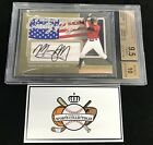 2011 In The Game ITG Country Of Origin Manny Machado SSP Gold Auto 10 BGS 9.5