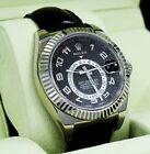 Rolex Sky-Dweller 326139 Perpetual 18K White Gold Leather Band Watch B/P *MINT*